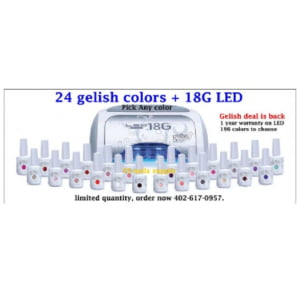 Gelish Harmony Deal Buy 24 Gelish Colors Get Led For Free...!!!