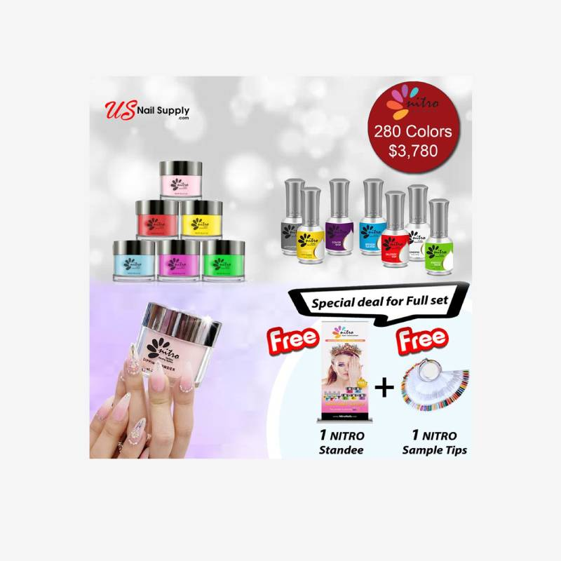 Nitro Dipping Powder 2 Oz Full Line 280 Colors Combo Deal