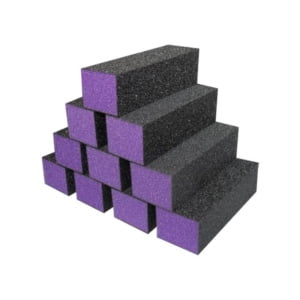 Purple Buffer Black Grit Premium 3-Way
