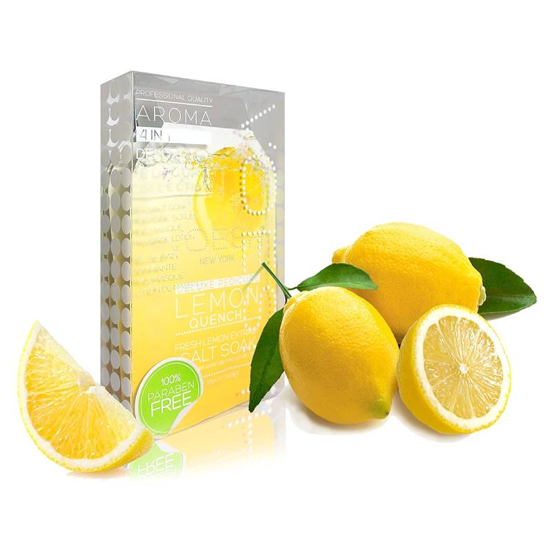 Voesh Complete Pedi in a Box 4 in 1 Kit - Lemon Quench Case of 50 Pack