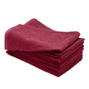16X27 100% Cotton Hand & Salon Towel 2.75 lbs. Burgundy 12pcs