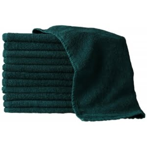 16X27 100% Cotton Hand & Salon Towel 2.75 lbs. Forest Green 12pcs