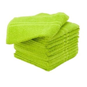 16X27 100% Cotton Hand & Salon Towel 2.75 lbs. Lime Green 12pcs