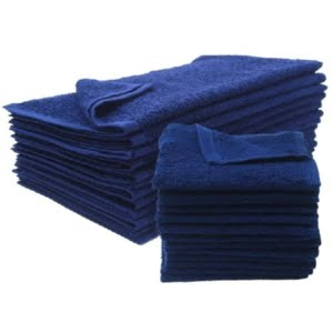 16X27 100% Cotton Hand & Salon Towel 2.75 lbs. Navy Blue 12pcs