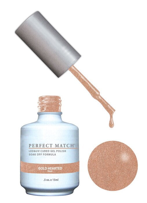 Perfect Match Gold Hearted PMS166