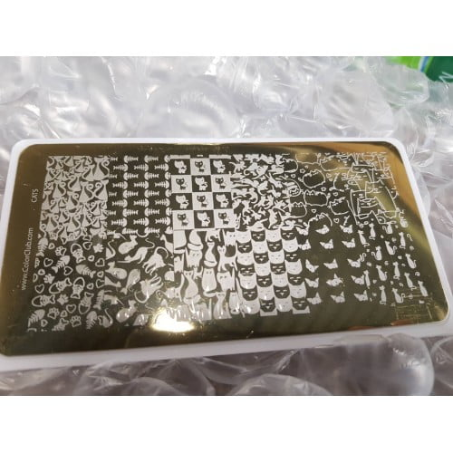 Color Club Stamping Plate (Cats)