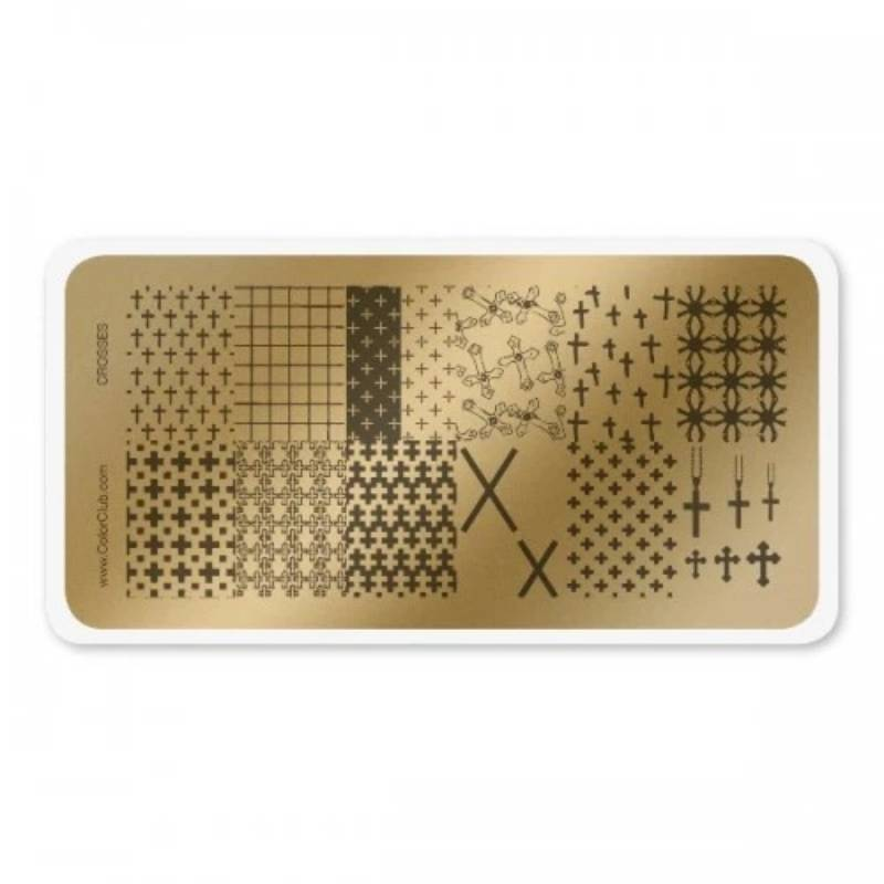 Color Club Stamping Plate (Crosses)