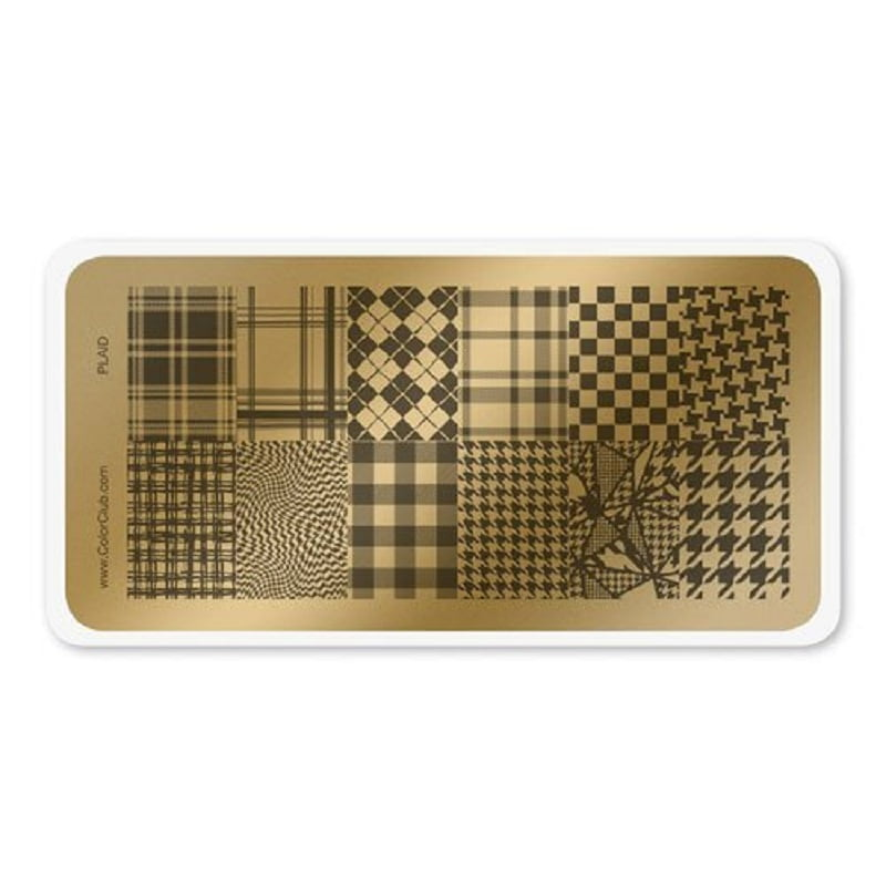 Color Club Stamping Plate (Plaid)